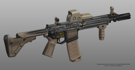 M4 Carbine cutaway; M4 Carbine; M4